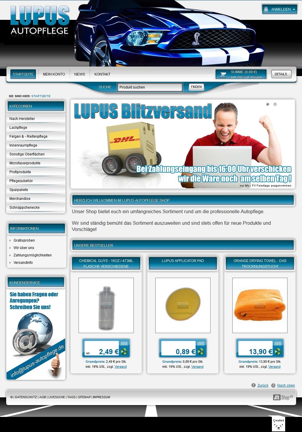 Lupus Autopflege