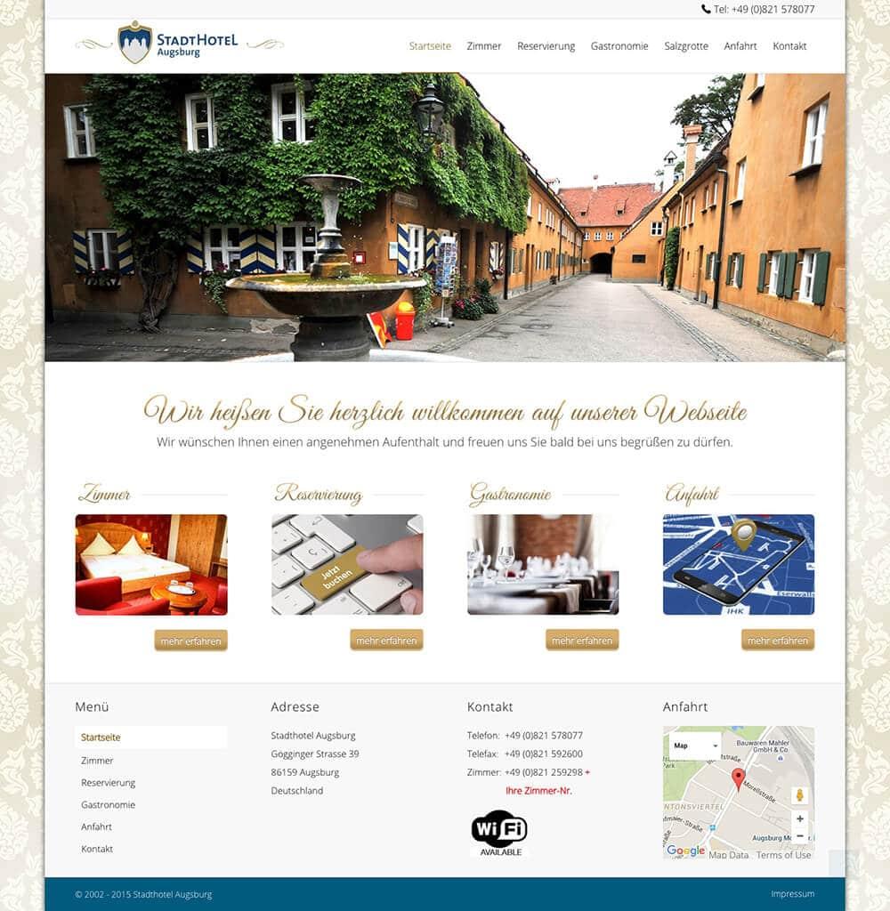 Das Stadthotel in Augsburg
