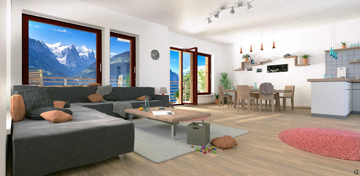 3D Visualisierung – Wohnung Links