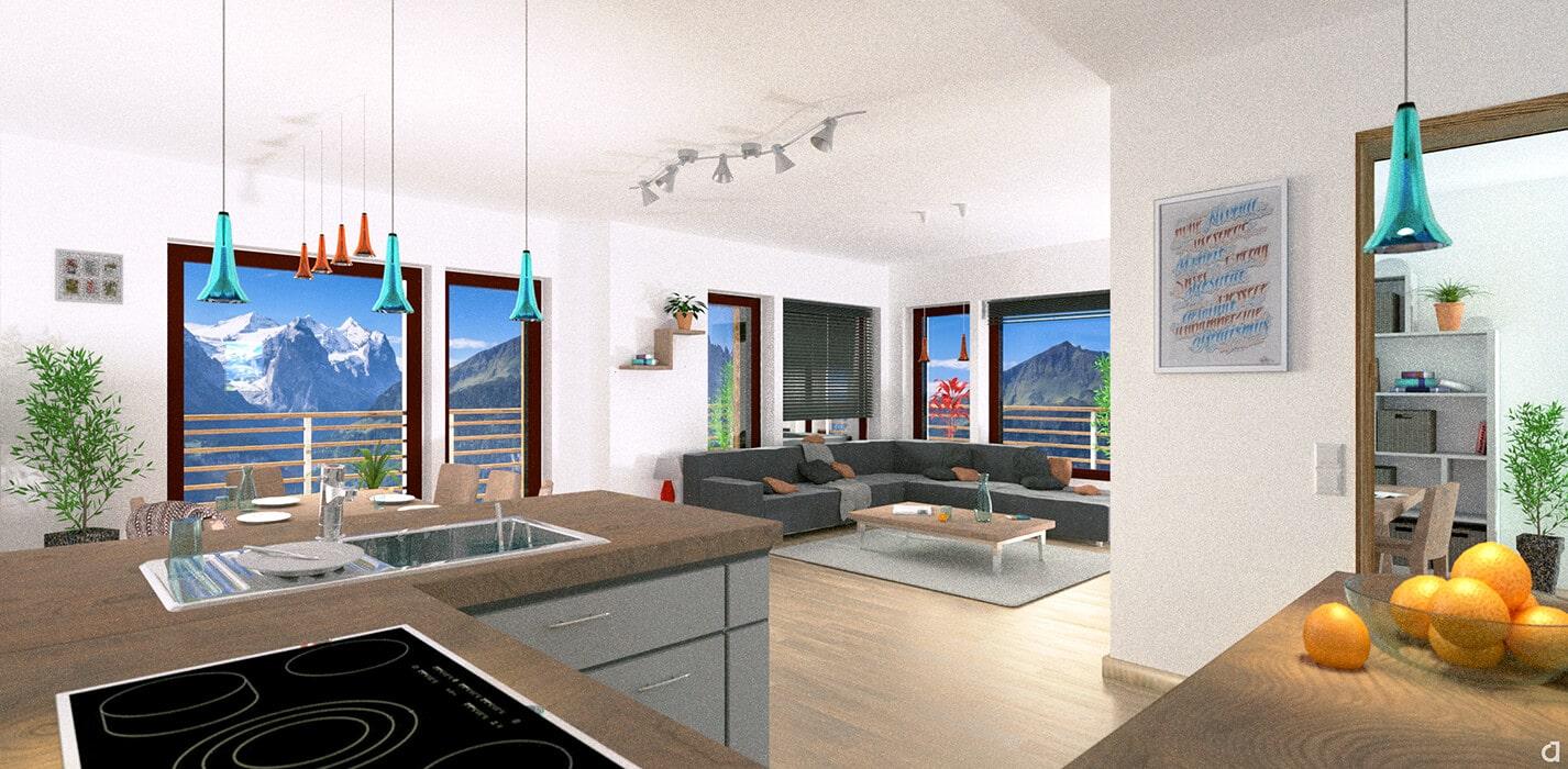 3D Visualisierung – Wohnung Rechts