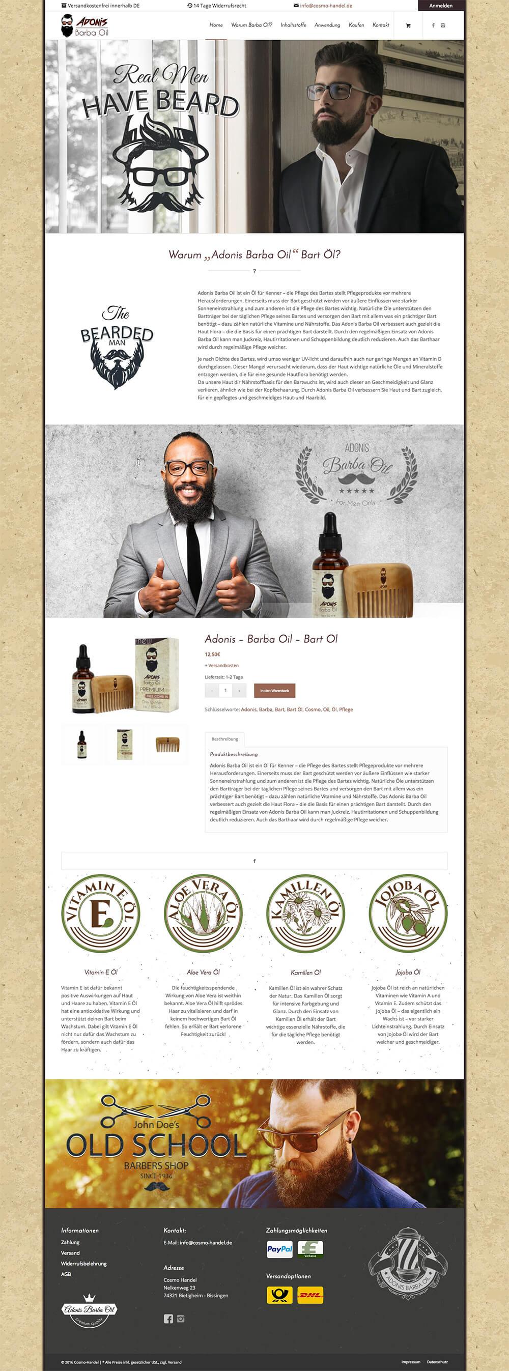 Adonis Barba Oil