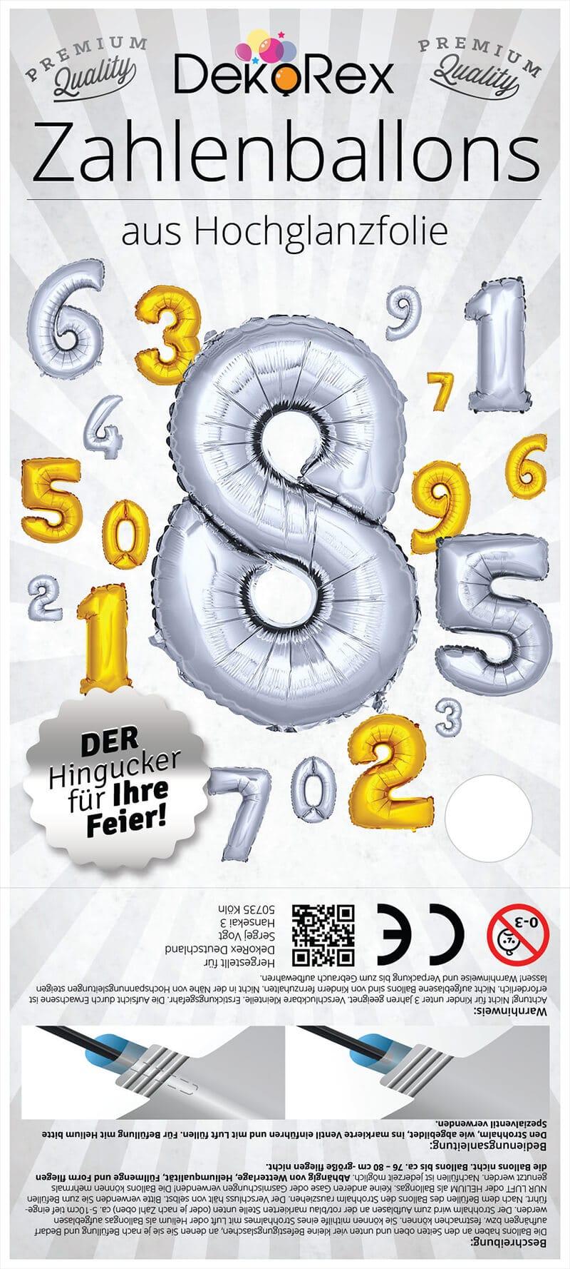 DekoRex Zahlenballons