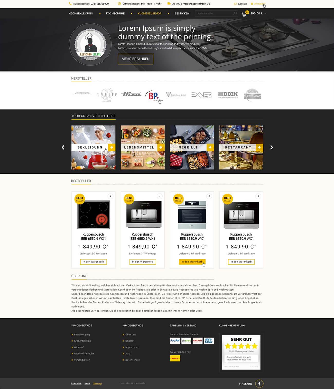 Kochshop Online 2