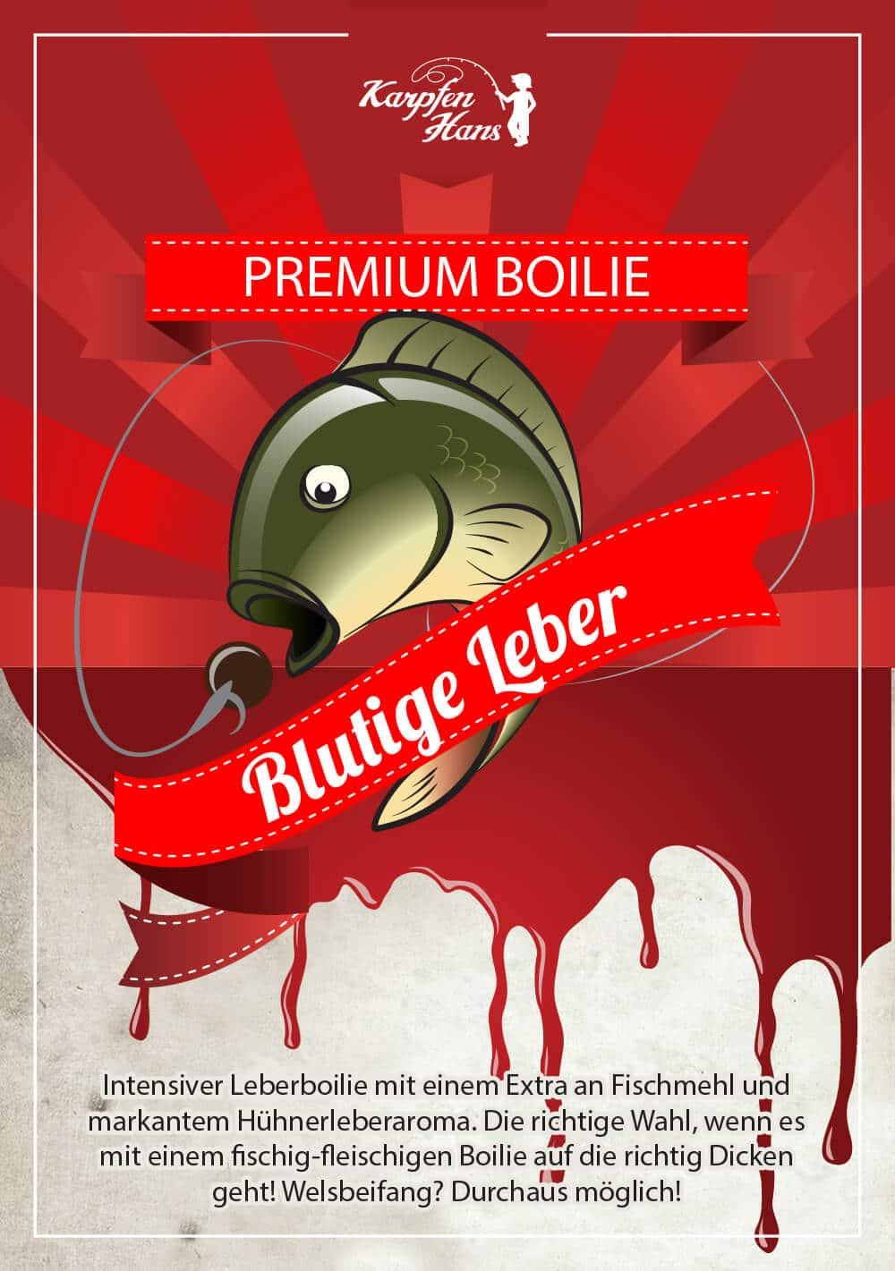 Blutige Leber Label